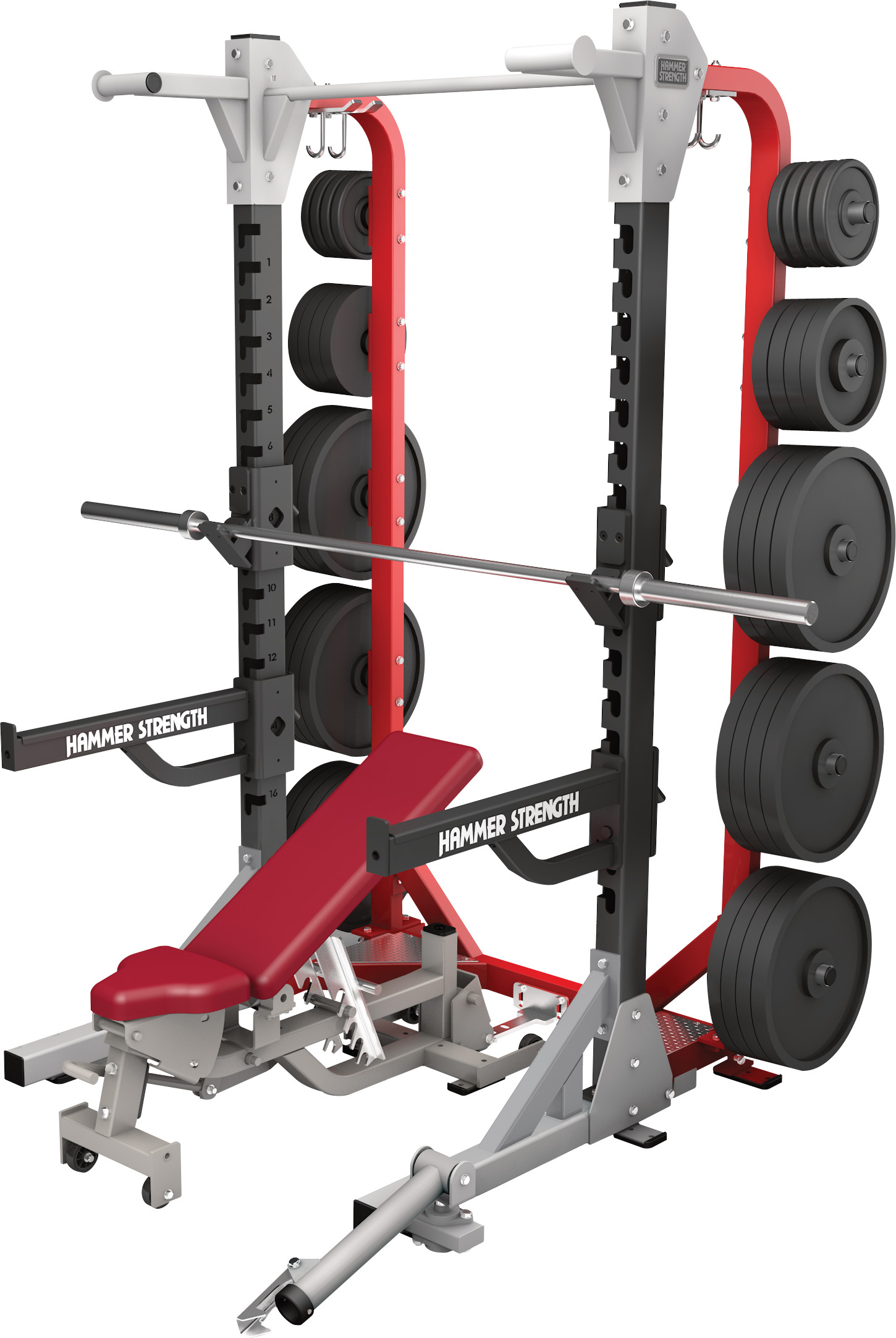 life fitness hammer strength heavy duty half rack. Black Bedroom Furniture Sets. Home Design Ideas