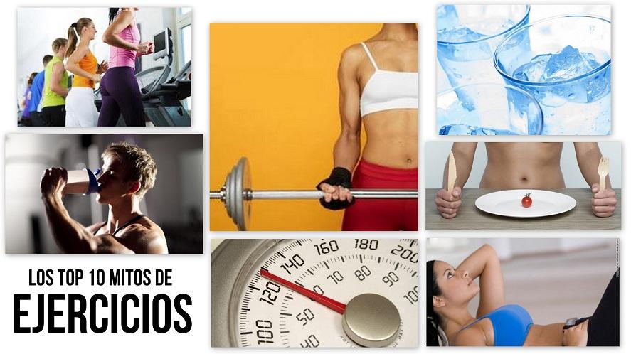 collage Mitos de ejercicios