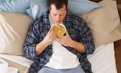 Comer en la cama