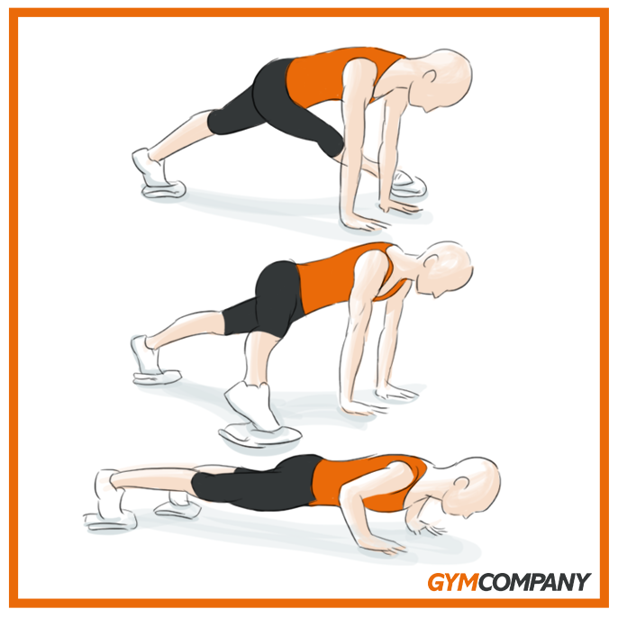 Ejercicio Core Fusion Extreme Three-Point Pushup