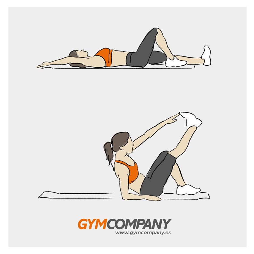 abdominales-para-mujeres-one-arm-toe-touch-crunch