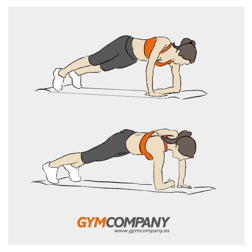 plancha con flexion