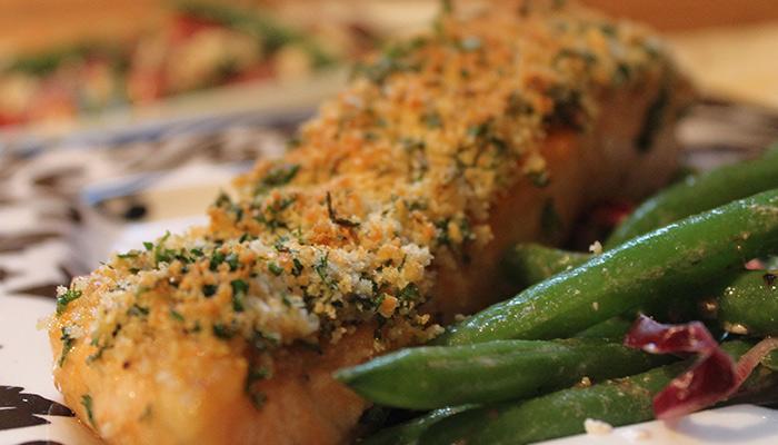 salmón con espárragos