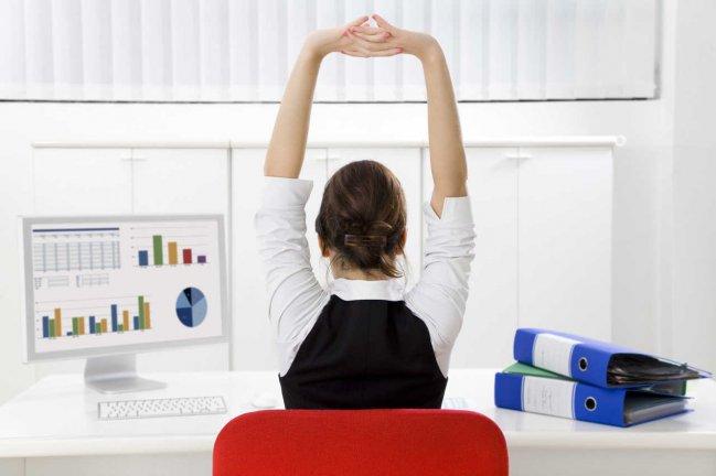 Ejercicios fitness en el trabajo