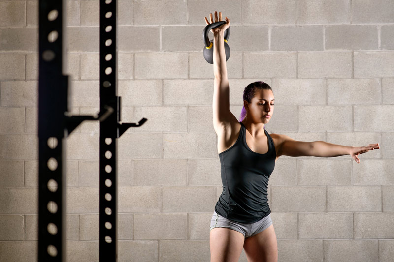 ejercicios con kettlebell cleanpress