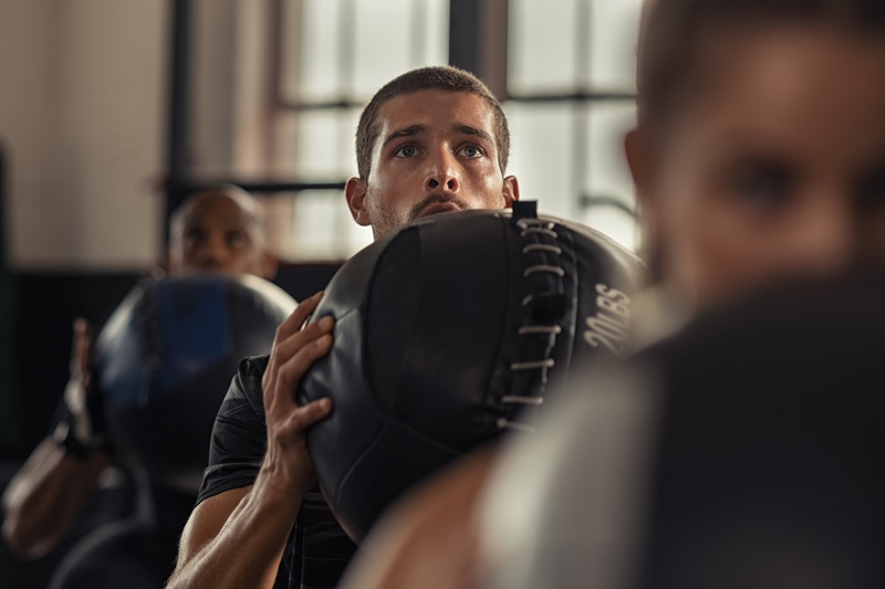 rutinas entrenamiento funcional balón medicinal
