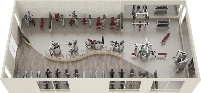 Dise o de gimnasios maquinas espacios fitness y for Programas de diseno de espacios