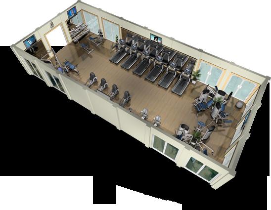 Dise o de gimnasios maquinas espacios fitness y for Espacios minimos arquitectura