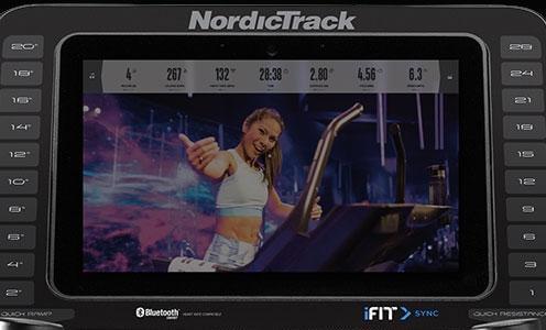 pantalla10 Elíptica NordicTrack Commercial 14.9